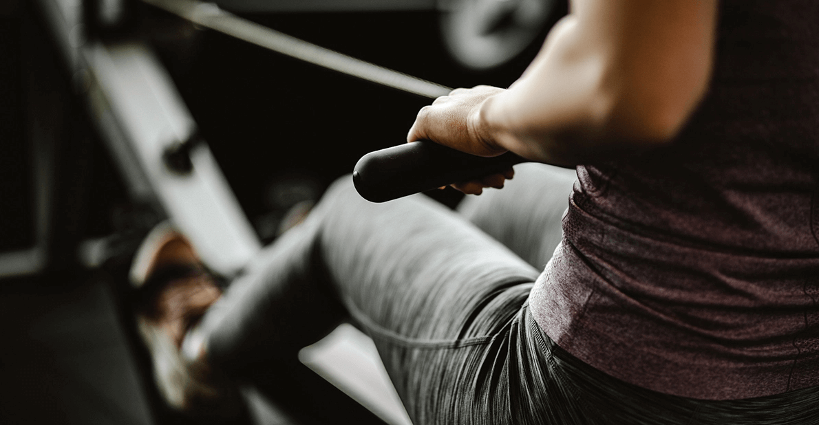 Rowing machines give you an all-rounded workout for arms, legs, back and cardio