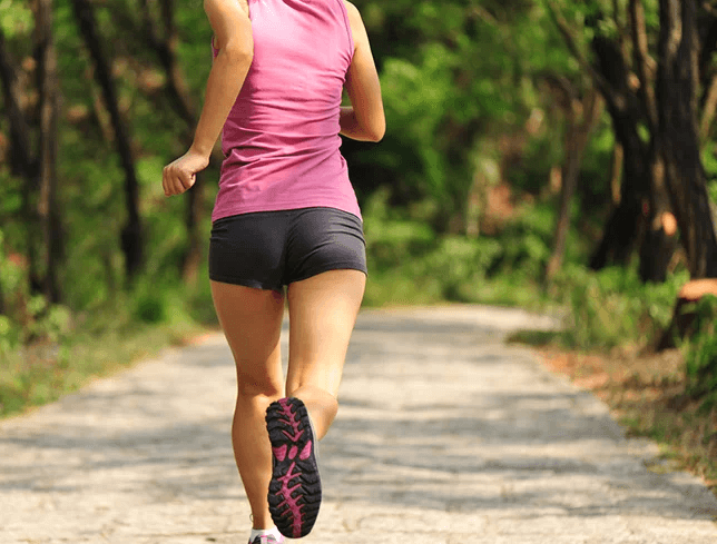 running also works your glutes, leading to a toned butt