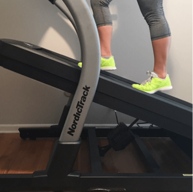 An incline treadmill offers the right workout for toning thighs and butt