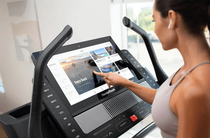 """With the wide 22"""" screen, operating the NordicTrack X22i treadmill is as easy as it is fun"""