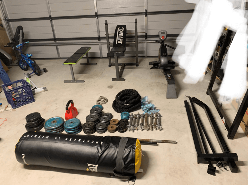 There are different ways to install a punching bag in the garage