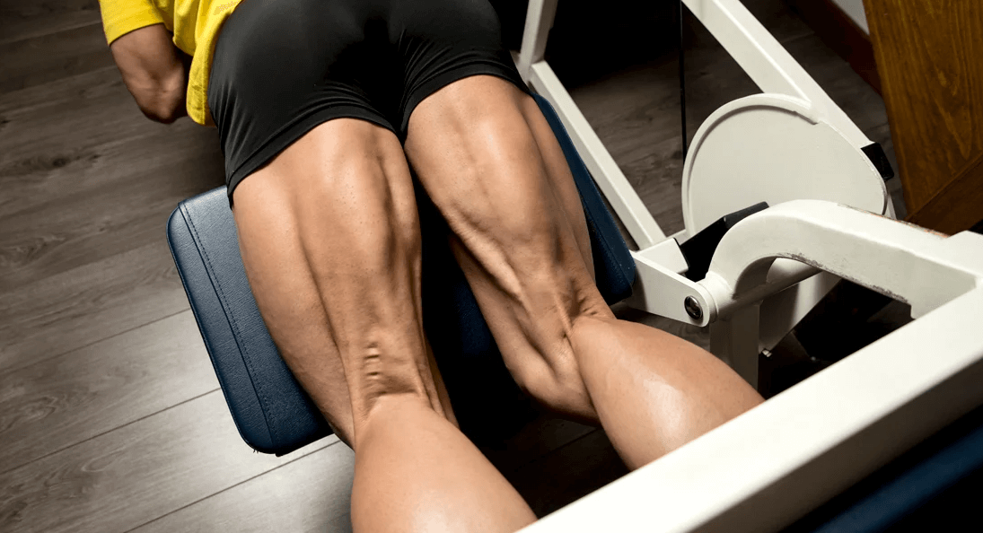 Glutes and hamstring can also be recruited with this workout