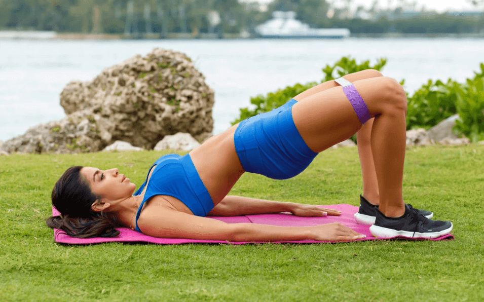 The glute bridge is also a great isometric workout