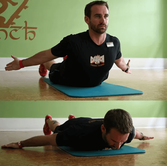 The prone cobra is one of the easiest variation of this exercise